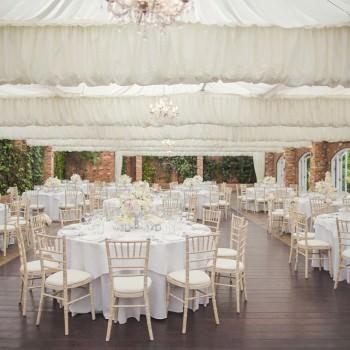orangery set up for wedding breakfast
