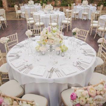 wedding reception dining tables