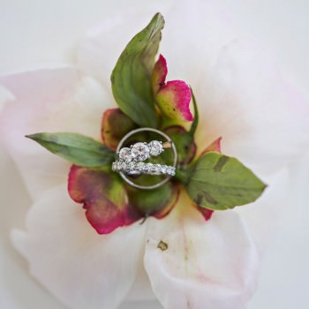wedding rings on dessert