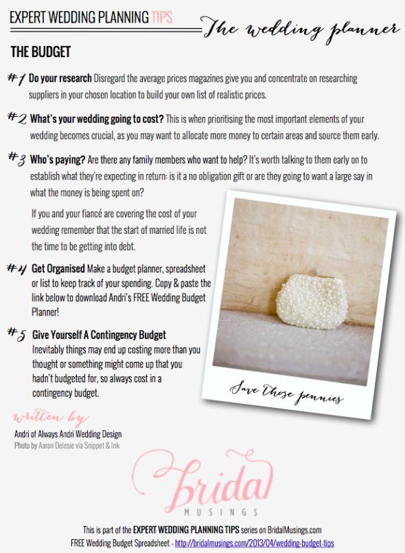wedding budget top tips