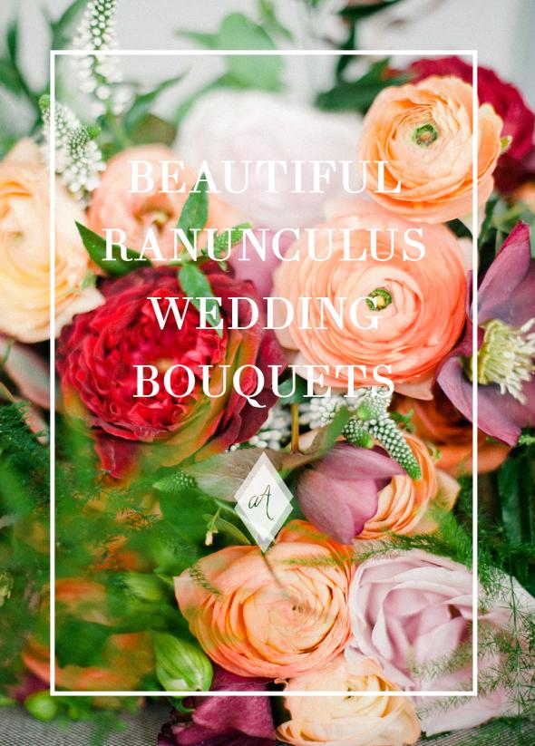 Beautiful ranunculus wedding bouquets always Andri Wedding Design Anushe Low Photography Joanne Truby Foral Design