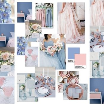 Always Andri How to create a mood board using google picasa Serenity blue and rose quartz Pantone colour of the year moodboards