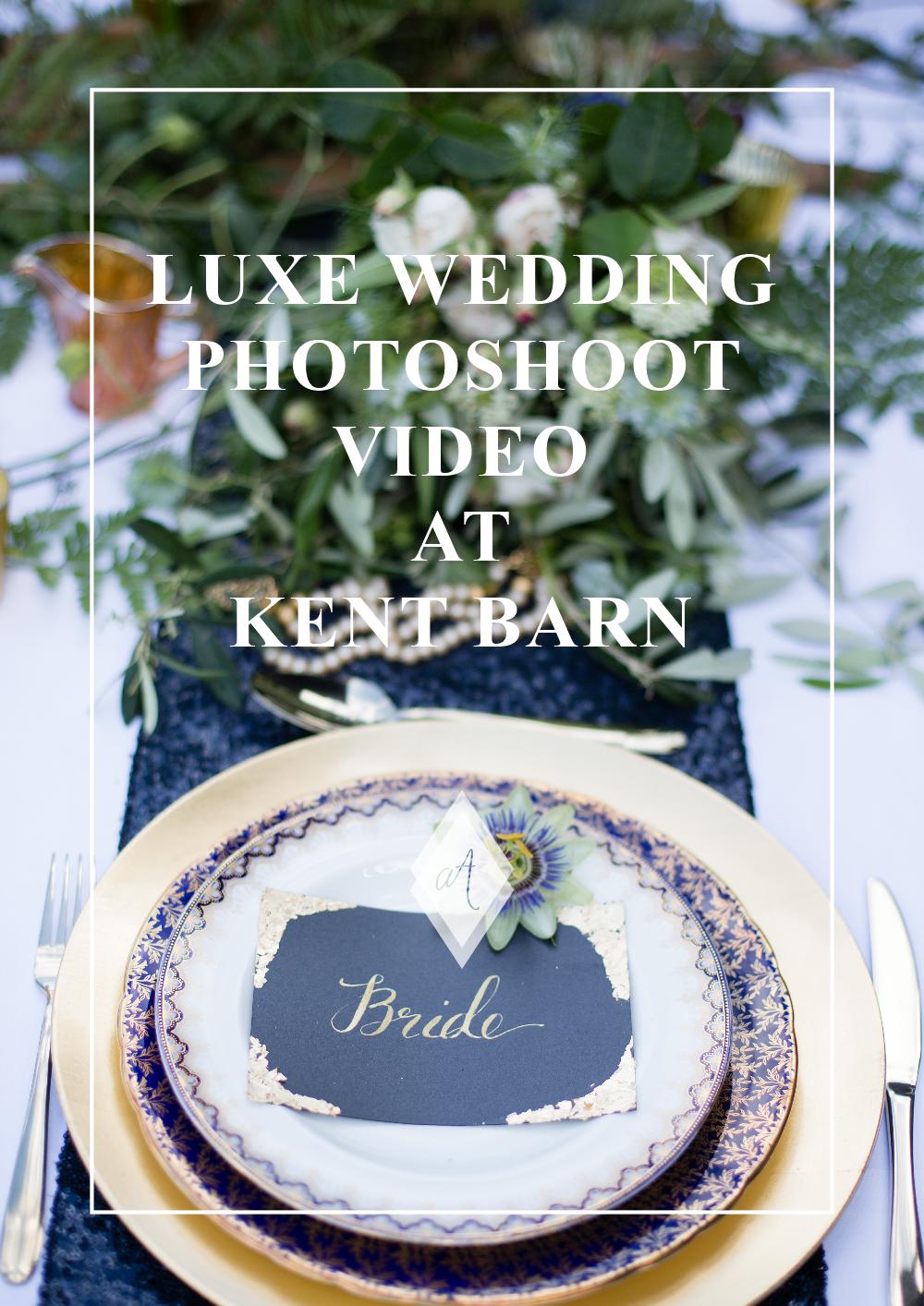 Luxe wedding photoshoot video at Kent barn Always Andri
