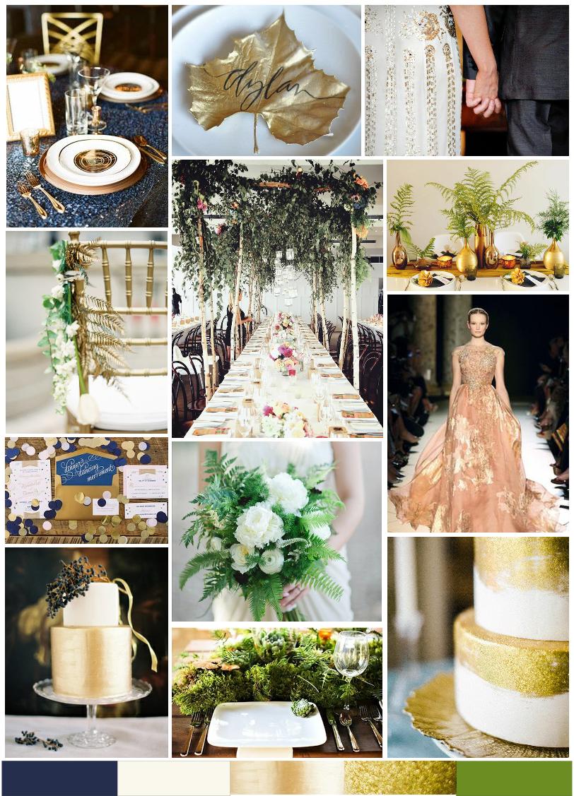 Luxe wedding photoshoot video at Kent barn Always Andri midnight blue and metallics moodboard