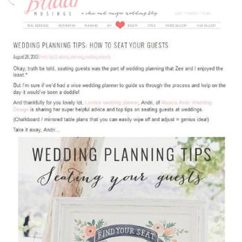 Bridal Musings Guest blogger