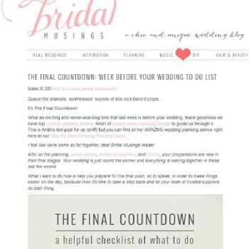Bridal-musings-the final-countdown