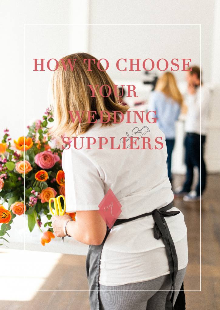 how to chhose your wedding suppliers