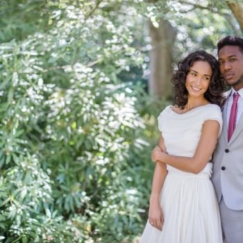 multicultural wedding couple bride and groom