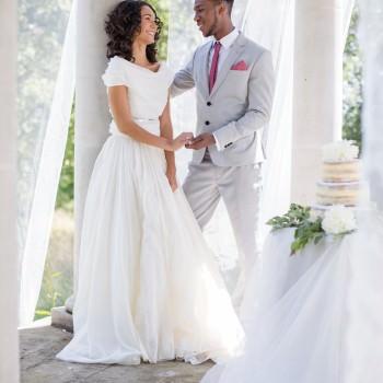 classic white fine art wedding photoshoot