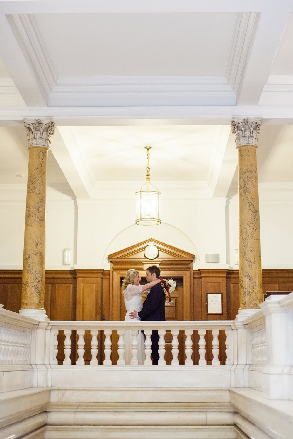 Bride and groom in Camden Town Hall| London Wedding The Curries Photogrpahy | Always Andri Wedding Planning