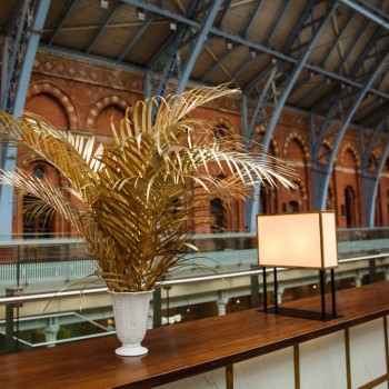 Gold sprayed palm leaves at wedding | London Wedding The Curries Photogrpahy | Always Andri Wedding Planning