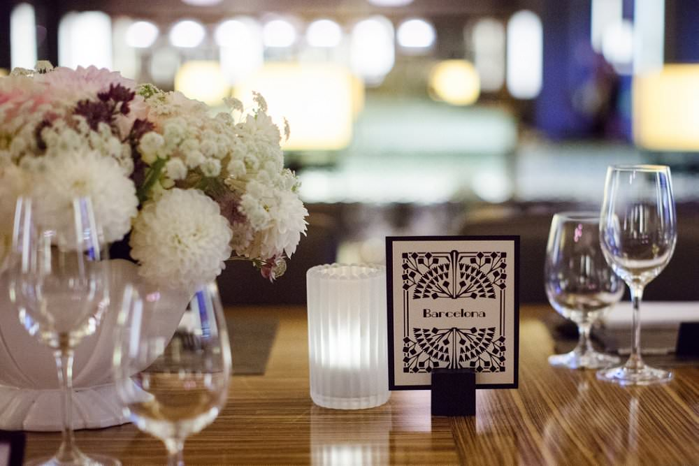 Art Deco table name | London Wedding The Curries Photogrpahy | Always Andri Wedding Planning