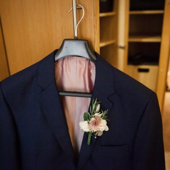 grooms buttonhole on jacket | London Wedding The Curries Photogrpahy | Always Andri Wedding Planning