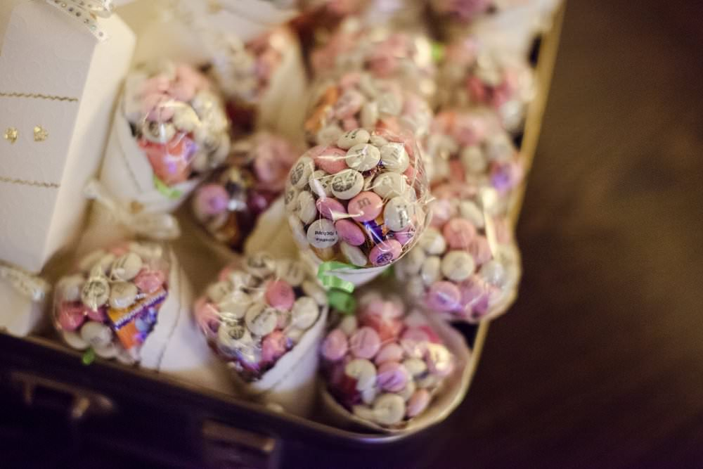 personlised M&M's sweets | London Wedding The Curries Photogrpahy | Always Andri Wedding Planning