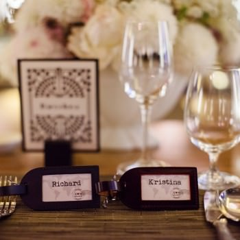 luggage tags placecards | London Wedding The Curries Photogrpahy | Always Andri Wedding Planning
