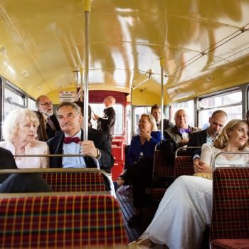 Bride and groom on bus tour | London Wedding The Curries Photogrpahy | Always Andri Wedding Planning