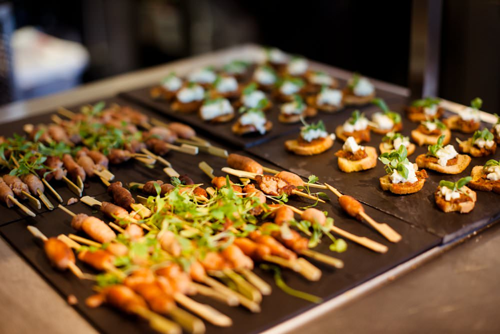 wedding canapes | London Wedding The Curries Photogrpahy | Always Andri Wedding Planning