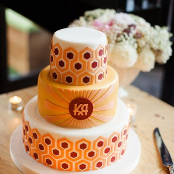 Maisie Fantaasie Stanley Kubrick inspired wedding cake | London Wedding The Curries Photogrpahy | Always Andri Wedding Planning
