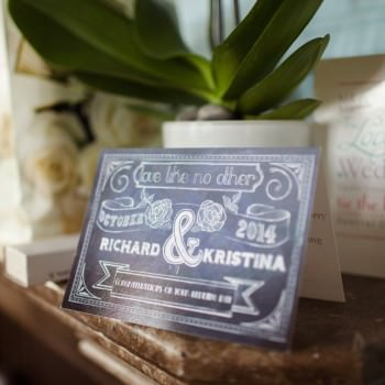 personalised wedding day card | London Wedding The Curries Photogrpahy | Always Andri Wedding Planning
