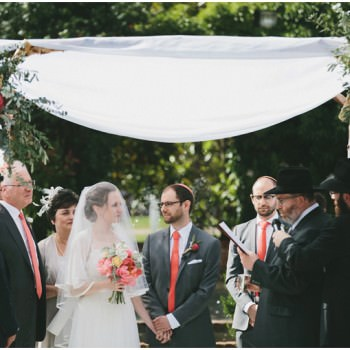 outdoor Jewish wedding Northbrook Park surrey