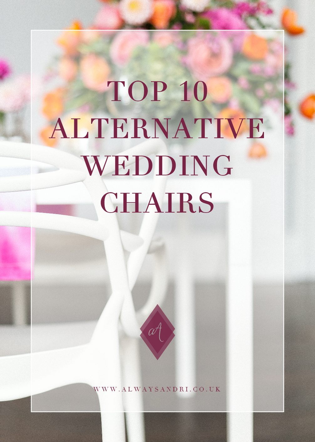 Top 10 alternative wedding chairs that will transform your wedding décor