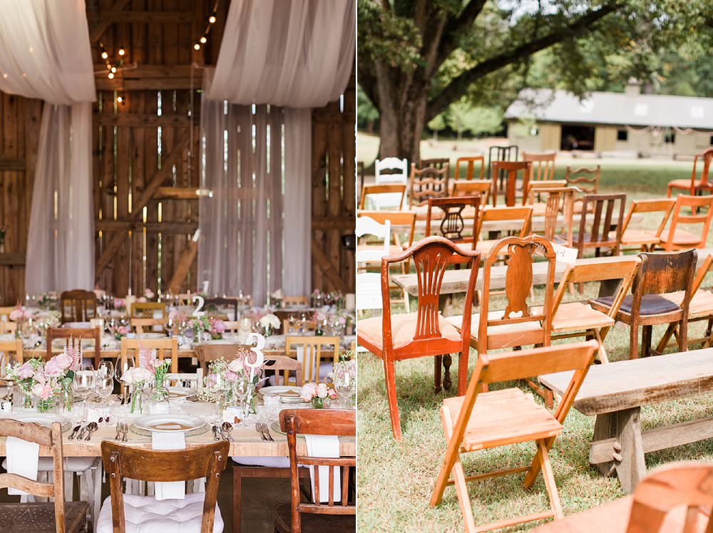 Mismatched vintage chairs alternative wedding chairs