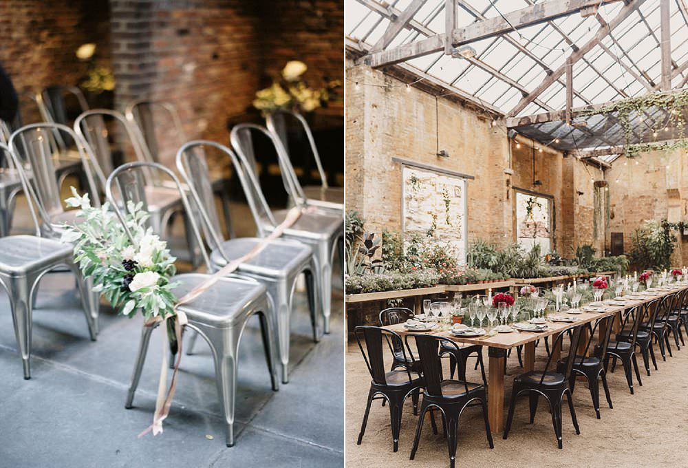industrial cafe chairs alternative wedding chairs