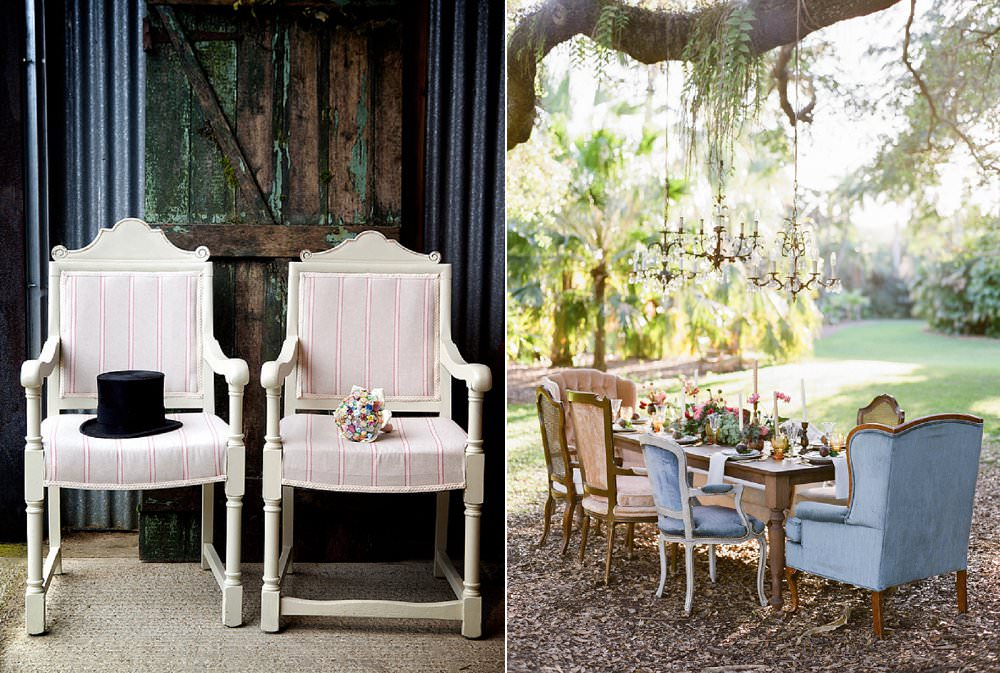 vintage chiars and armchairs alternative wedding chairs