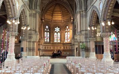 A beautiful wedding at St Stephen's London