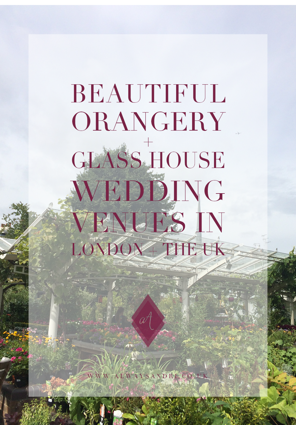 The most beautiful Orangery style wedding venues in London and the UK