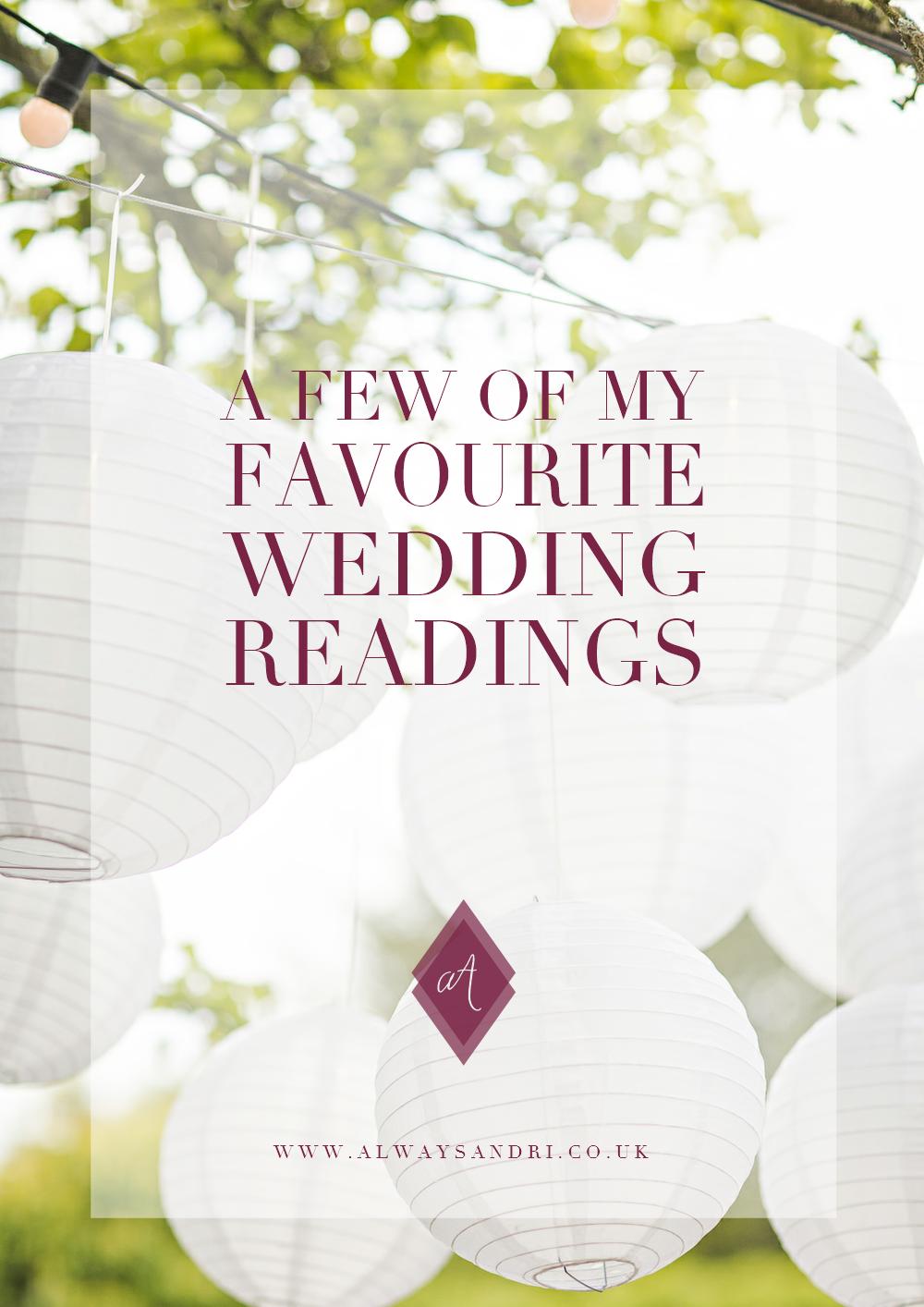 hanging lanterns blog post a few of my favourite wedding readings