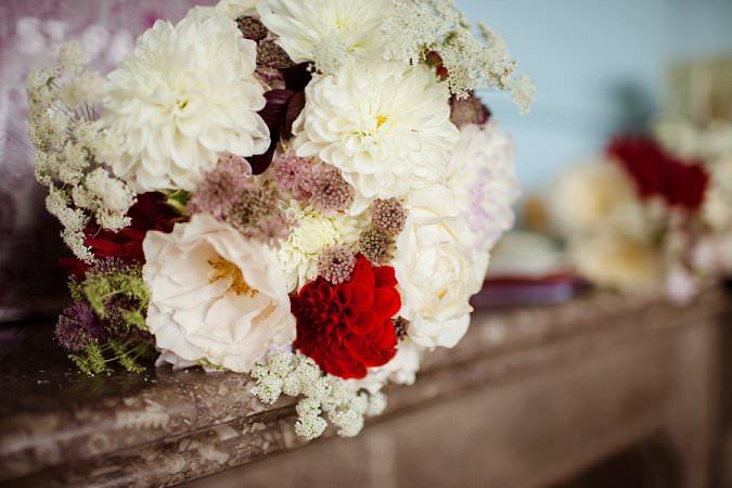Beautiful Dahlia Wedding Bouquets