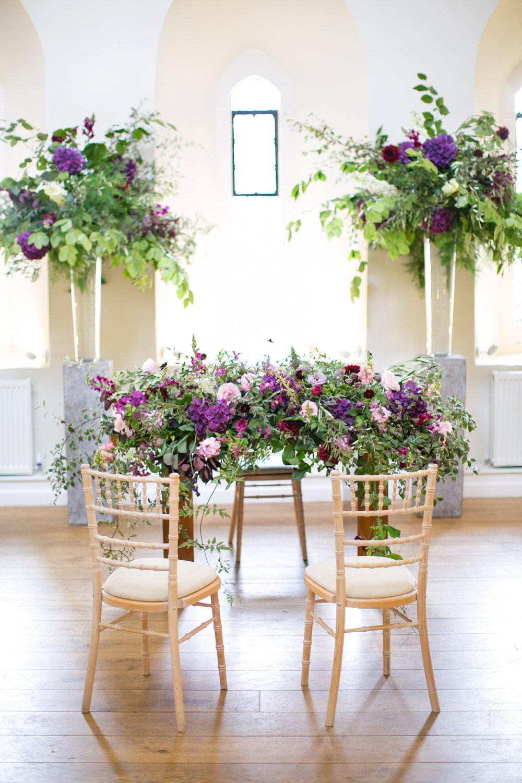 FArnham CAstle wedding cermemony Jay Archer Flowers