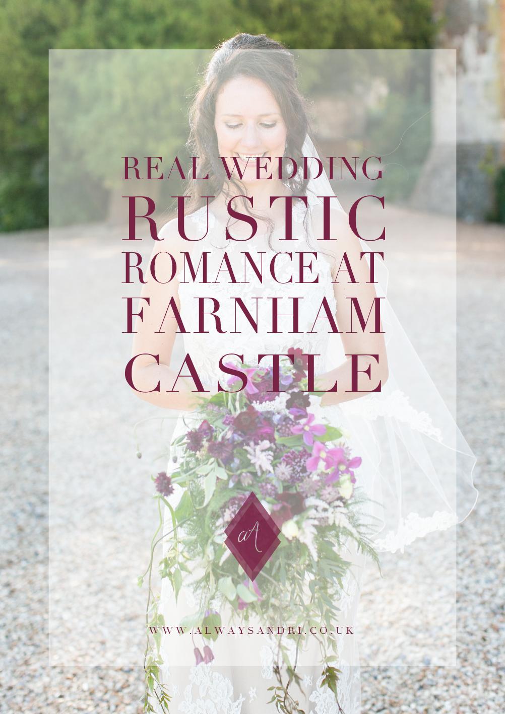 real-wedding-rustic-romance-at-farnham-castle-surrey
