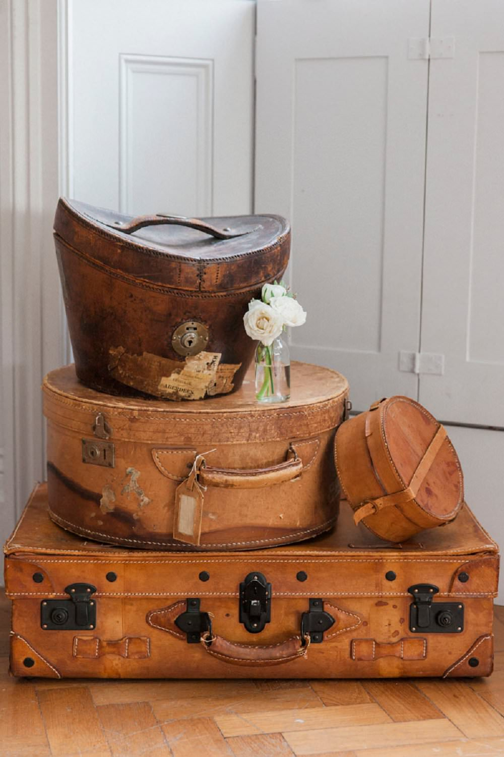 vintage suitcases wedding props