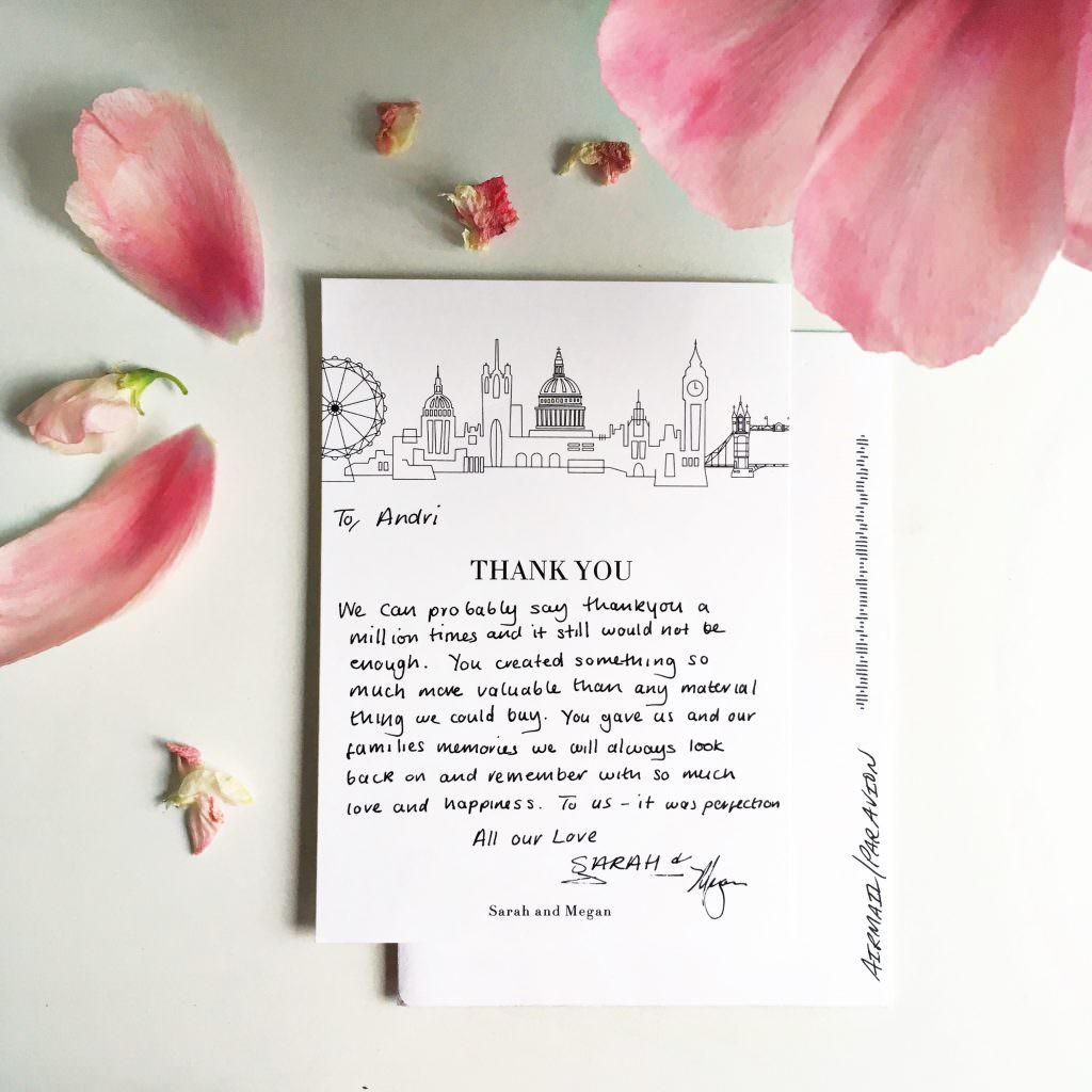 wedding planner testimonial London wedding