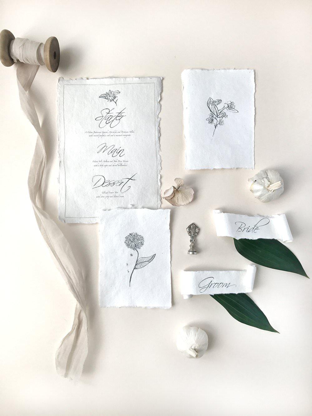 Luxury wedding stationery London Elmo paperstories