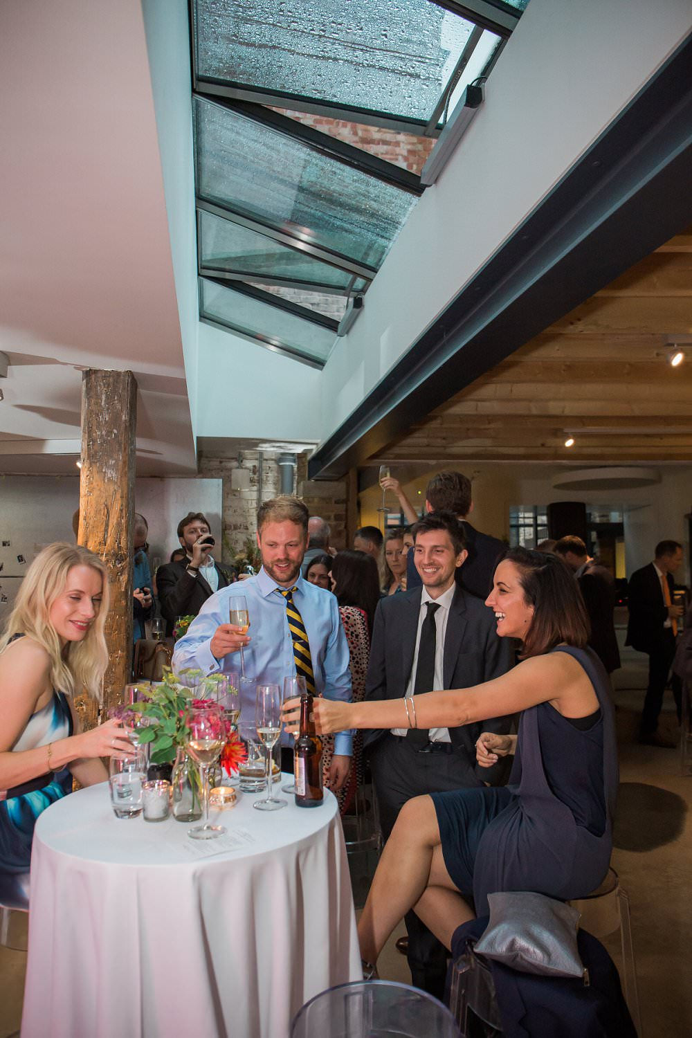 guests enjoy wedding party in London
