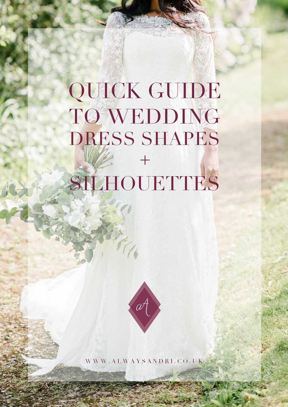 quick guide to wedding dress shapes and silhouettes