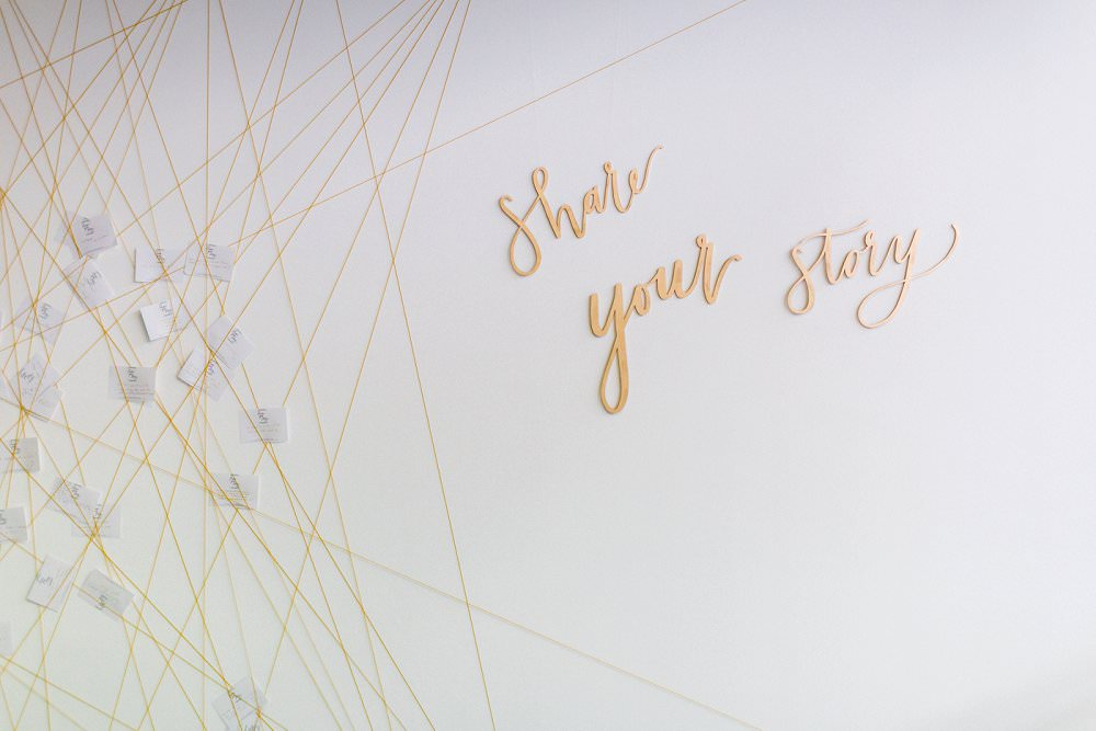 Share your story laser cut signage by Merrie and Bright at Luxury Wedding show Styling Always Andri