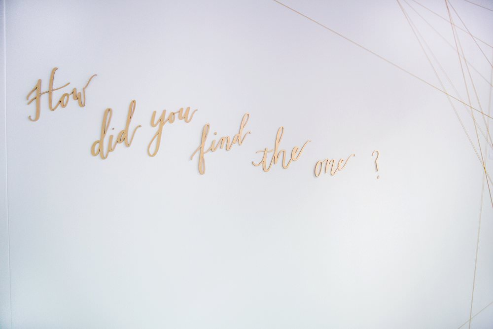 How did you find the one laser cut singage by Merrie and Bright at Luxury Wedding Show