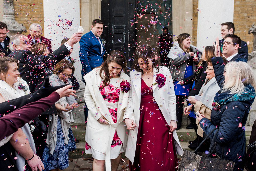 same sex asylum wedding confetti shot