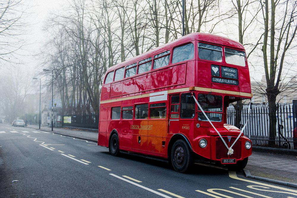 Peckham wedding London bus