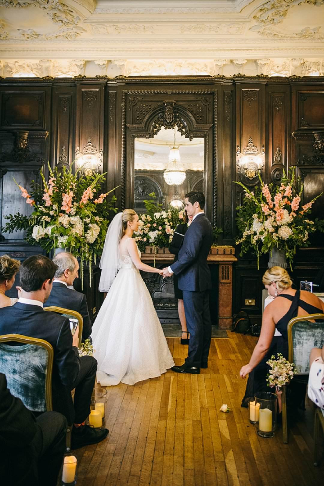 ceremony Dartmouth House London Wedding Venue
