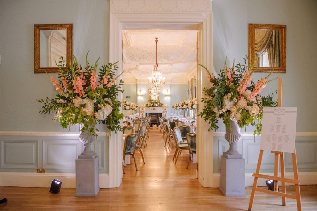 Dartmouth House London Wedding reception set up