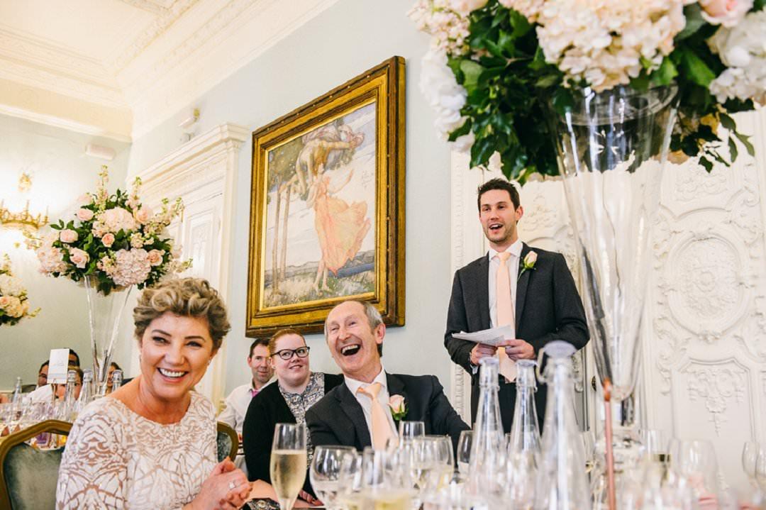 speeches at wedding Dartmouth House London Wedding Venue