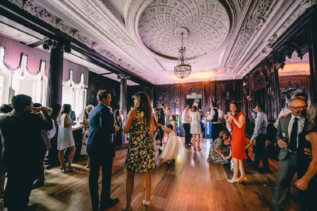 guests dancing at Dartmouth House London Wedding