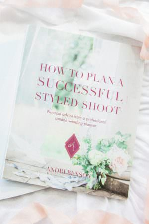how to plan a successful styled shoot book cover