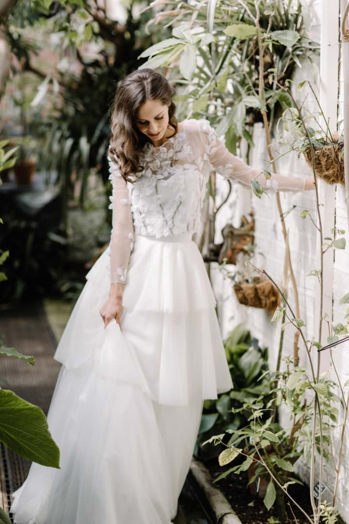 greenhouse bride Always Andri Wedding Planner + Designer Beccy Goddard Photography Chelsea Physic Garden Photoshoot