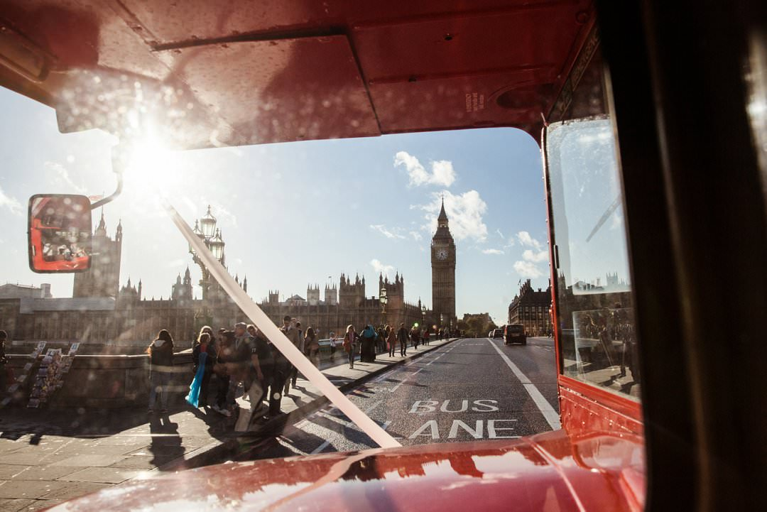 view accross Wesminster bride of Big Ben from London bus The Curries Always Andri